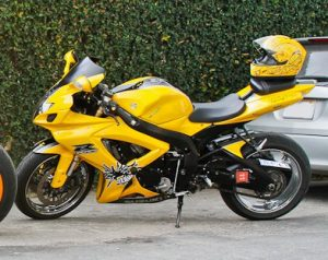 My yellow GSX-R 600